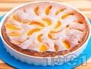 Рецепта Лесен сладкиш с праскови